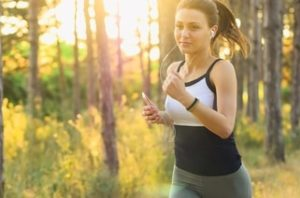 Girl Running Cell Phone